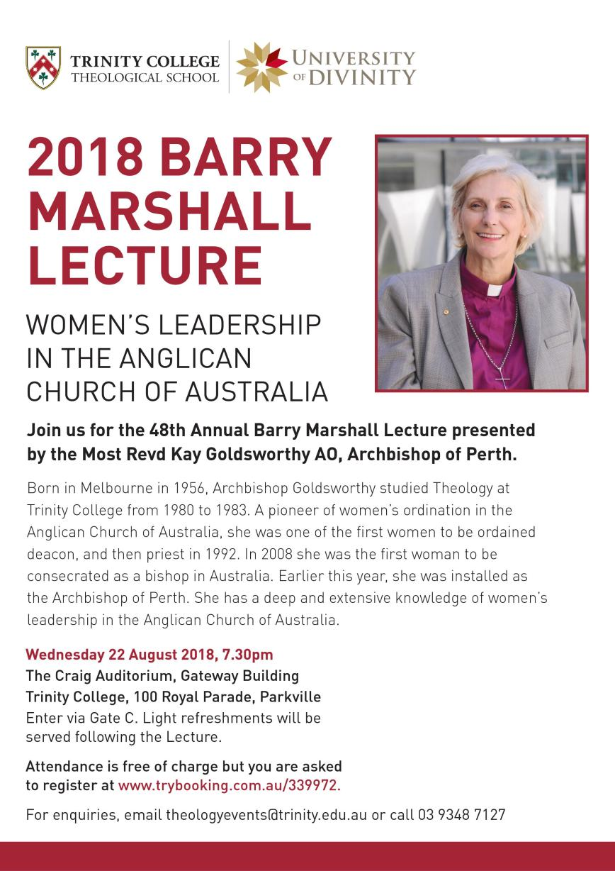 Barry Marshall lecture